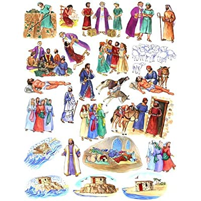 Story & Life of Jesus 13 Bible Stories for Flannel Board- You Cut Out Felt Figures: Toys & Games