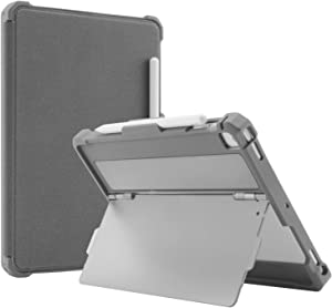 Maxjoy Case for 9.7 iPad 2018/2017, iPad Air 2 /1 Case, iPad Pro 9.7 Case, Protective But Slim + Multi Angles Stand + Pencil Holder + Sleep/Wake Cover for iPad 9.7 inch 5th/6th Gen, [2.0 version],Grey