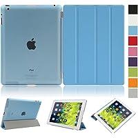 Besmall Funda Carcasa Proteccion Smart Cover per Apple iPad 2/3/4 A1395 A1397 A1396 A1416 A1430 A1403 A1458 A1459 A1460