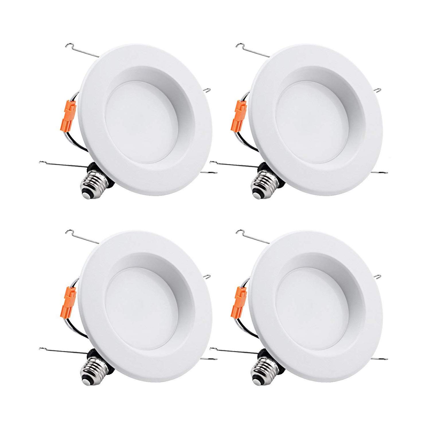 TORCHSTAR 5-6 Inch Dimmable Recessed LED Downlight with Smooth Trim, 15W (90W Eqv.), CRI 90, UL/Energy Star, 5000K Daylight, 1112lm, Retrofit Lighting, 5 Years Warranty, Pack of 4