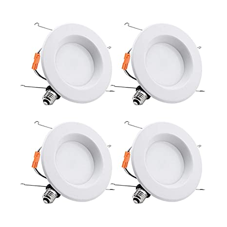 TORCHSTAR 15W 6inch Wet Location CRI90+ Dimmable 90W Equivalent Retrofit LED Recessed Lighting Fixture, ETL