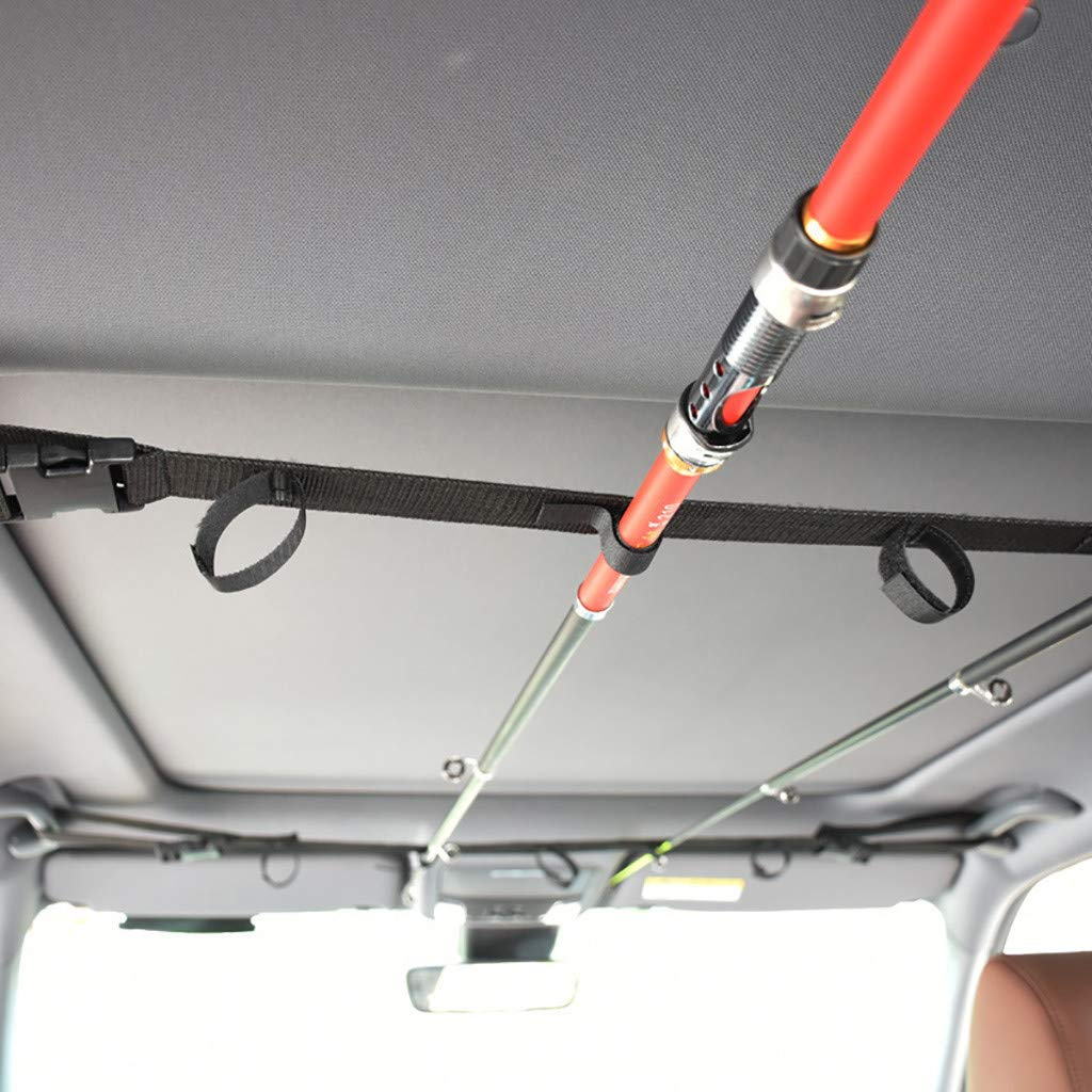 Holds Protects Stores MODAO Fishing Rod Holder and Transports Rods with A Handle Car Mounted Rod Carry for Fishing in-Vehicle Storage of Fishing Rod