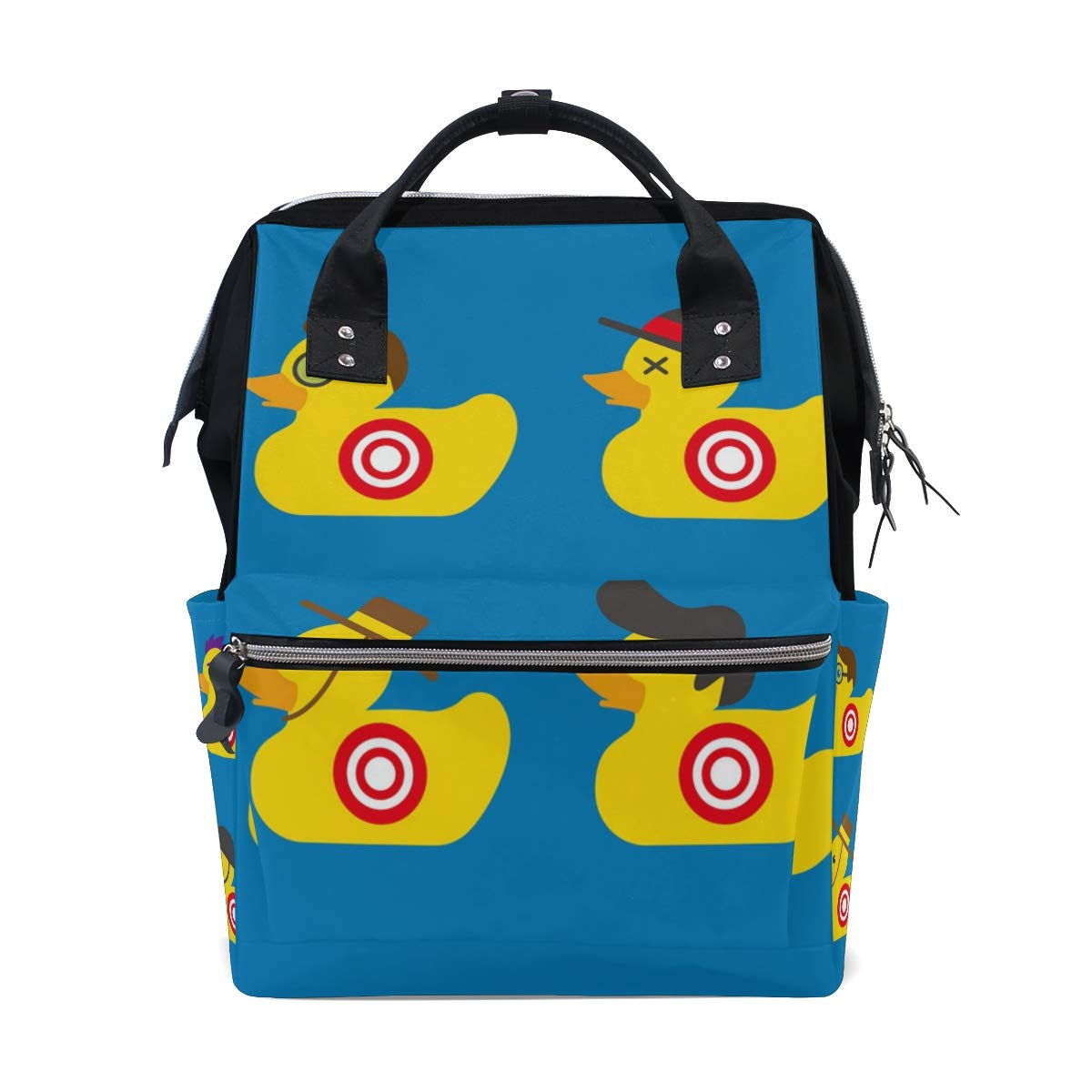 2dadb85a75 Amazon.com   LALATOP Diaper Bag Backpack for mom Rubber Duck Target Larger  Capacity Baby Nappy Bag Muti-Function Travel Backpack   Baby