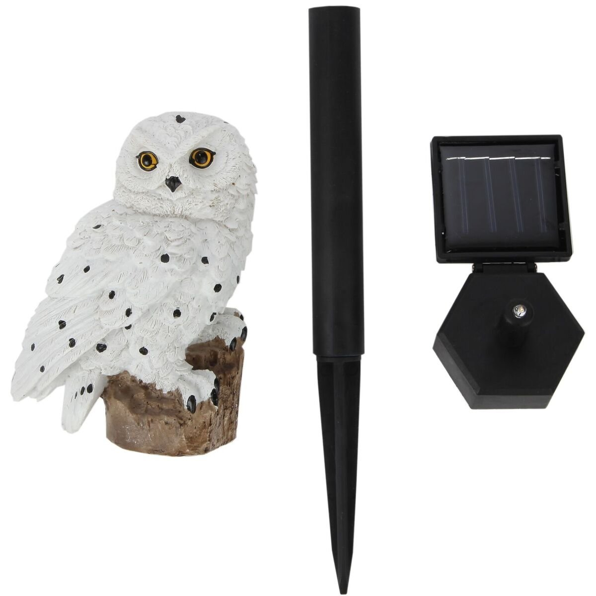 Trenton Gifts Weather Resistant Outdoor LED Solar Owl Light, Garden Stake | White by Trenton Gifts (Image #3)