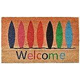 """Home & More 121771729 Surfboard Welcome Doormat, 17"""" x 29"""" x 0.60"""", Multicolor"""