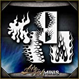Mini Flames 3 Set AirSick Airbrush Stencil Template