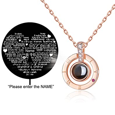amazon com laofoo sterling 925 silver projective necklace the