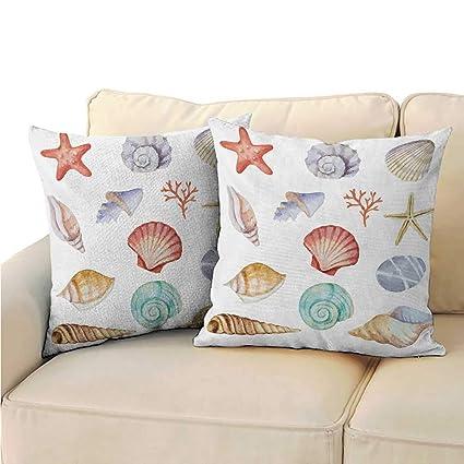 Amazon.com: Fundas de almohada de tamaño queen, náutica ...