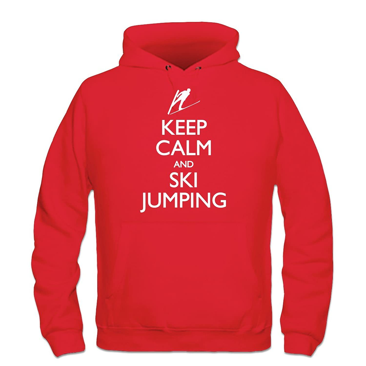 Keep Calm And Ski Jumping Kapuzenpulli by Shirtcity
