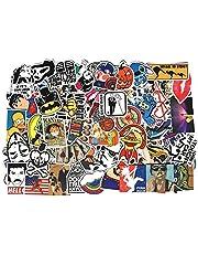 100 قطعة من ملصقات متتعدة وعشوائية من الفينيل، رائعة لتزيين لوح التزلج وحقيبة السفر والاب توب والهاتف المحمول، ملصقات يمكن أن تلصقها بنفسك