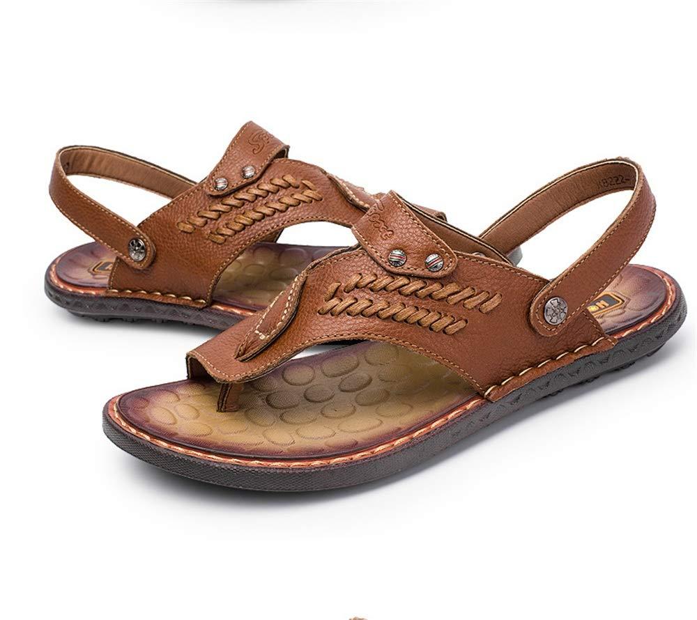 Wagsiyi Hausschuhe Sandale Herren Outdoor Sports Leder Schwarz Komfortable Sandalen Größe Strandschuhe (Farbe : Braun, Größe Sandalen : 40 2/3 EU) Braun dd1ce6