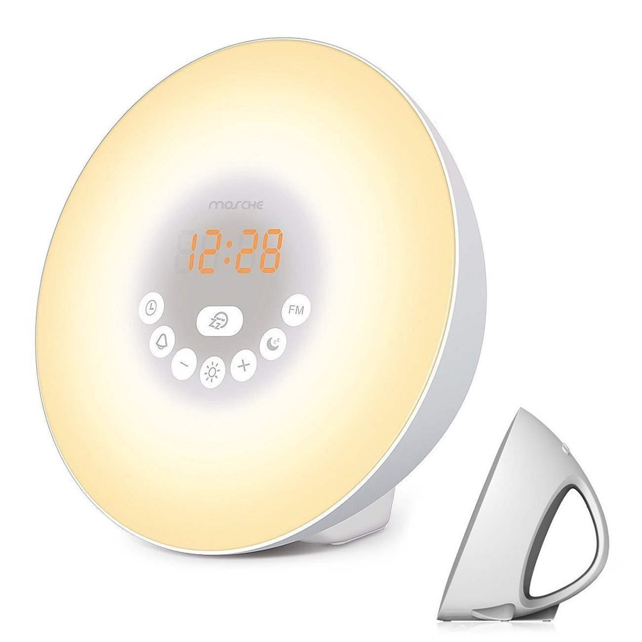 Wake Up Light, Sunrise Alarm Clock with Smart Snooze Function, Nature Sounds, FM Radio - Touch Control with USB Charger NOA