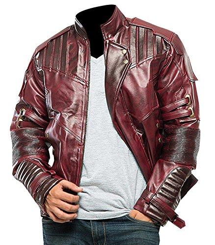 Galaxy Vol 2 Design Star Lord Chris Biker Quill Leather Guardians Jacket