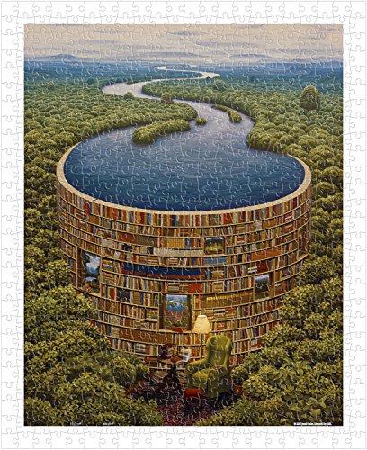 Pintoo - H1647 - Jacek Yerka - Bibliodame - 500 Piece Plastic Puzzle