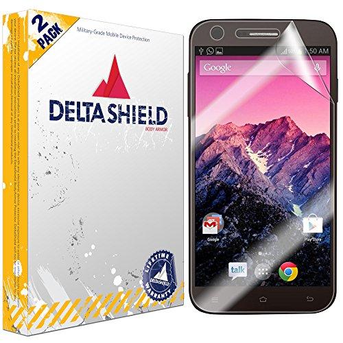 (DeltaShield Screen Protector for RCA G1 5.5 inch HD (2-Pack) BodyArmor Anti-Bubble Military-Grade Clear TPU Film)