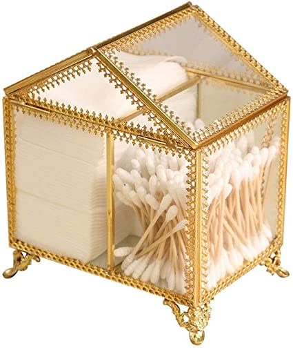 Caja de almacenamiento de cristal transparente con borde de ...