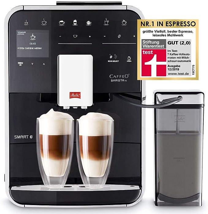 Melitta Caffeo Barista TS Smart F850-102 F850-102-Cafetera Automática, Super Silenciosa, Control con App Connect, Función One Touch, Negro, 1450 W, 1.8 litros, Acero Inoxidable, 5 Velocidades: Amazon.es: Hogar