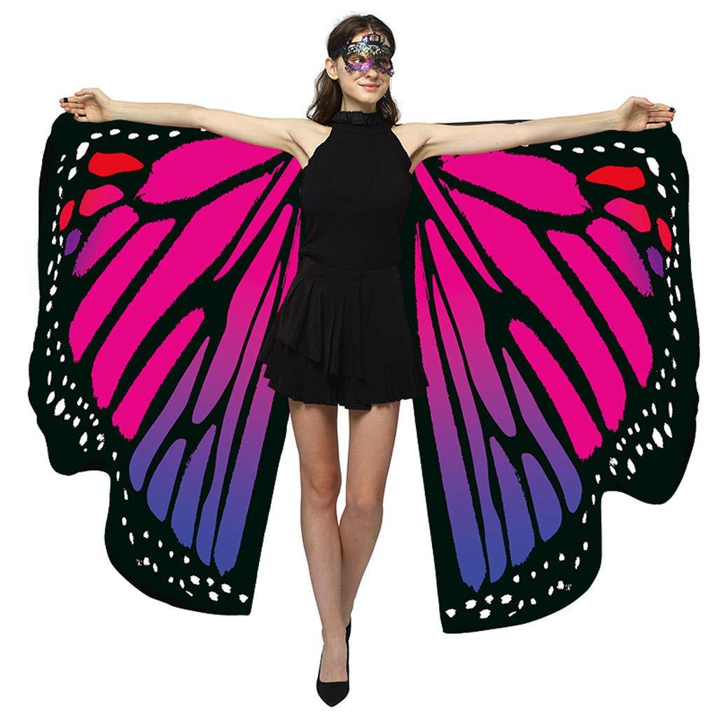 Mant/ón de Mariposa Grande Muchacha Accesorio para Disfraz Playa Fiesta de Navidad Carnaval Baohooya Chal de Alas de Mariposa Duendecillo para Mujer