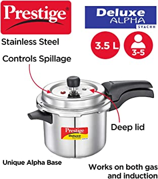 Pressure Cookers Silver Prestige Svachh PRASV3 PRESSURE COOKER 3 ...