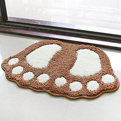 Water bath mat household mats toilet door mat -4060cm Khaki by ZYZX