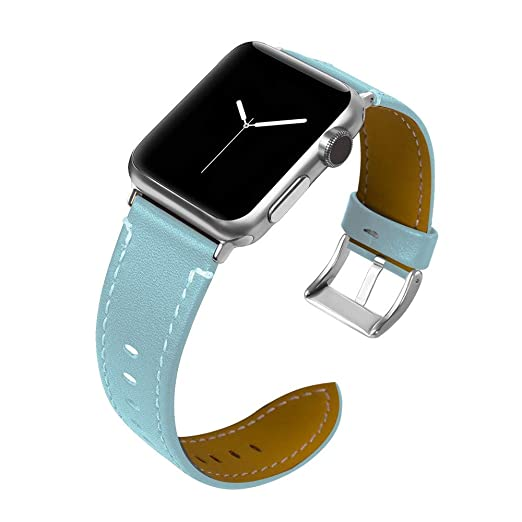 54b5da03327 Amazon.com: Fullfun Compatible with Apple Watch Band 42mm Fashion Leather Replacement  Band for iwatch Series 3 2 1 42mm (Light Blue): Watches