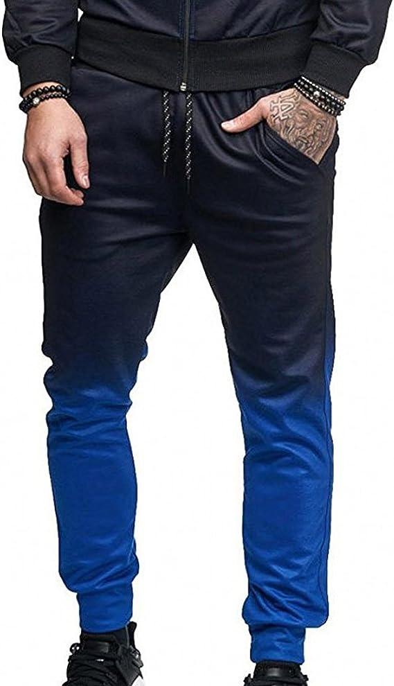 Pantalones Casuales de Color Degradado para Hombres, Pantalones de ...