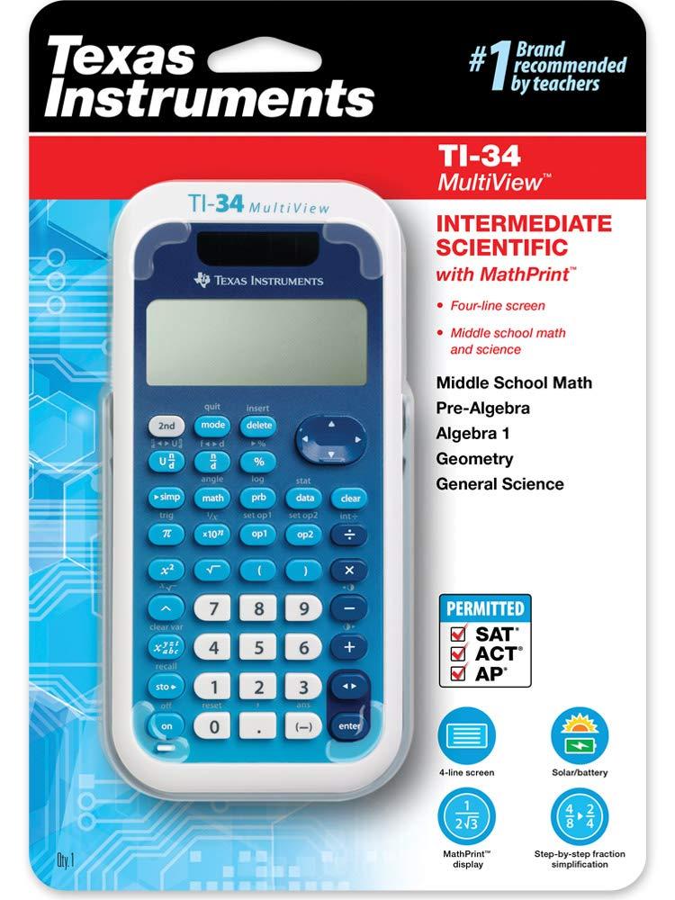 Texas Instruments (34MV/TBL/1L1) TI-34 MultiView Scientific Calculator by Texas Instruments