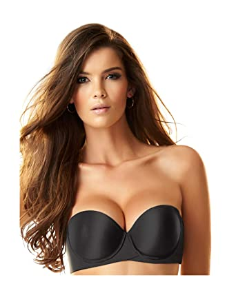 d846f59ffdd99 Image Unavailable. Image not available for. Color  Leonisa Extreme Push Up  Padded Strapless Convertible Petite Bra ...