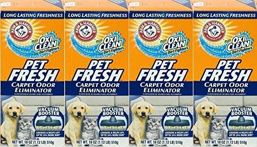 4 Pk, Arm & Hammer Pet Fresh Carpet Odor Eliminator Plus Oxi Clean Dirt - Arm Eliminator