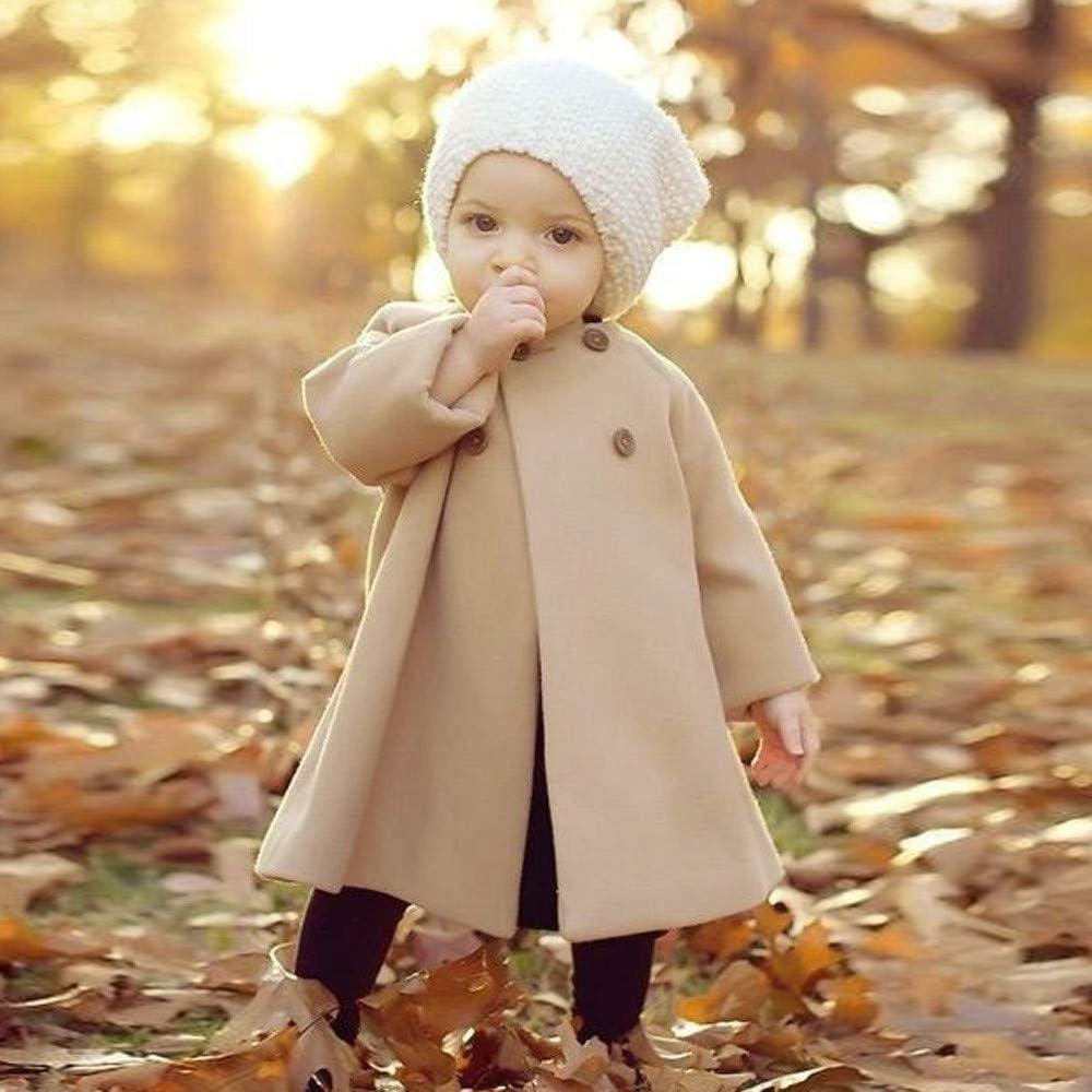 Autumn Winter Girls Kids Baby Outwear Cloak Button Jacket Warm Coat Clothes Tronet Baby Outerwear Jackets