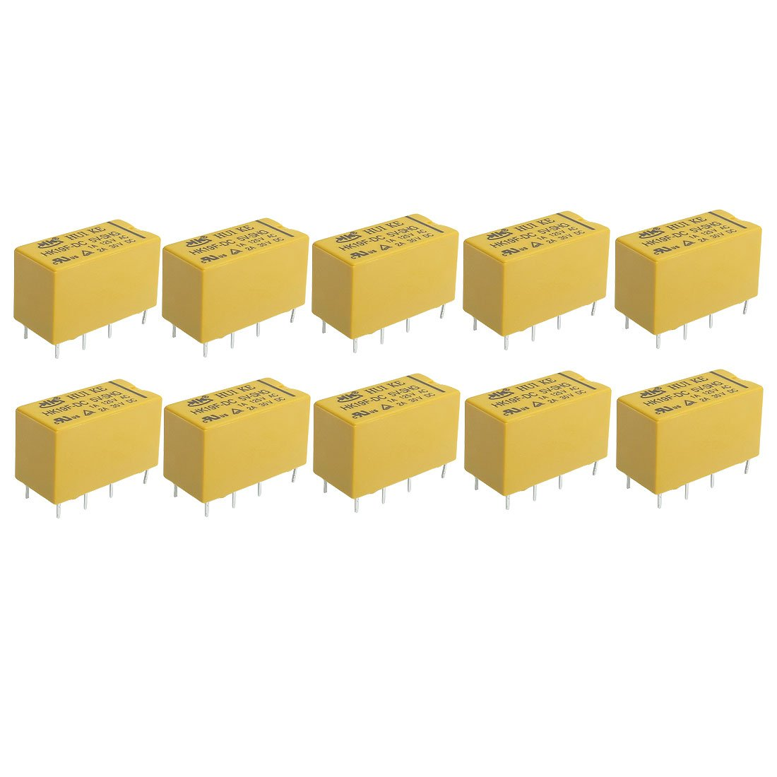 Uxcell 10 X Dc 5v Coil 8 Pins Dpdt Power Relay Hk19f Automotive Fire Inc Restaurant System Parts Ansulstyle Microswitch Accessory Relays