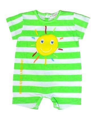Agatha Ruiz De La Prada Bright Green Striped Sunshine Romper (Newborn)