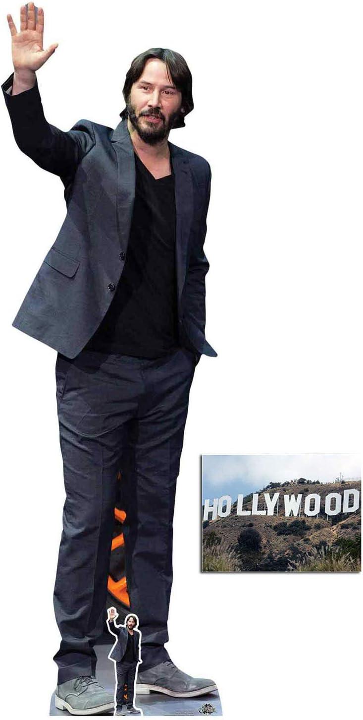 Keanu Reeves Celebrity Lifesize and FREE Mini Cardboard Cutout Film Star