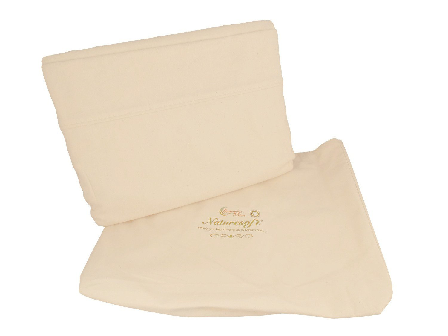 Organics and More NatureSoft Organic Cotton Flannel Sheet Sets - Twin - Natural