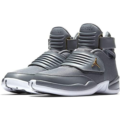 5907260bfb6 Nike Men s Jordan Generation 23 Cool Grey   - White Ankle-High Basketball  Shoe 9.5