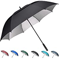 G4Free 54/62/68 inch Extra Large Windproof Golf Umbrella UV Protection Automatic Open Double Canopy Vented Sun Rain Umbrella Waterproof Oversize Stick Umbrellas for Men Women