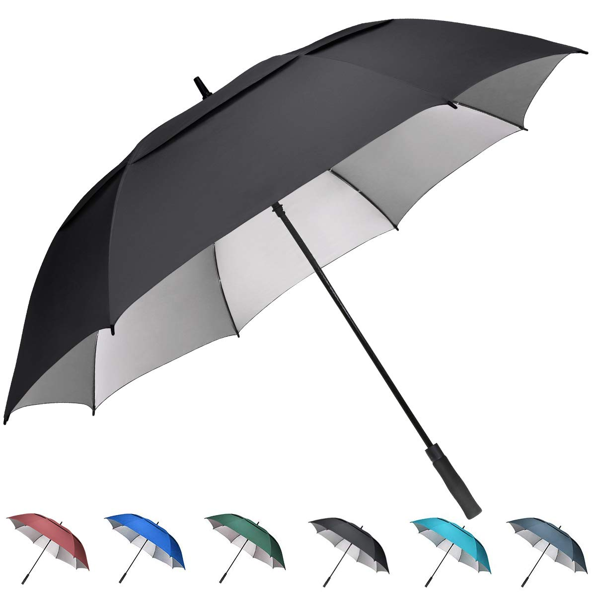 G4Free 54/62/68 inch Extra Large Windproof Golf Umbrella UV Protection  Automatic Open Double Canopy Vented Sun Rain Umbrella Waterproof Oversize  Stick