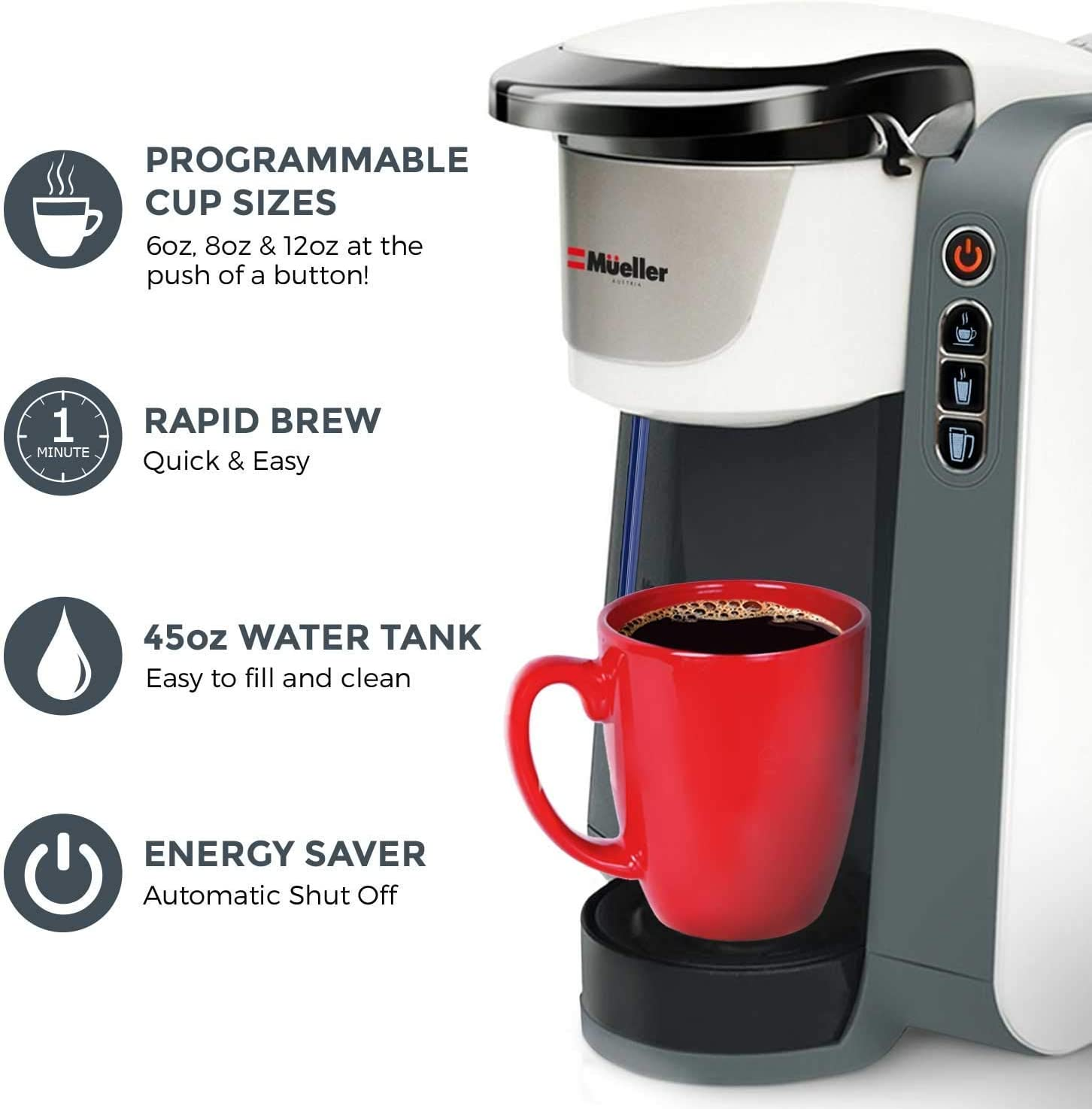 mueller ultimate single serve coffee maker