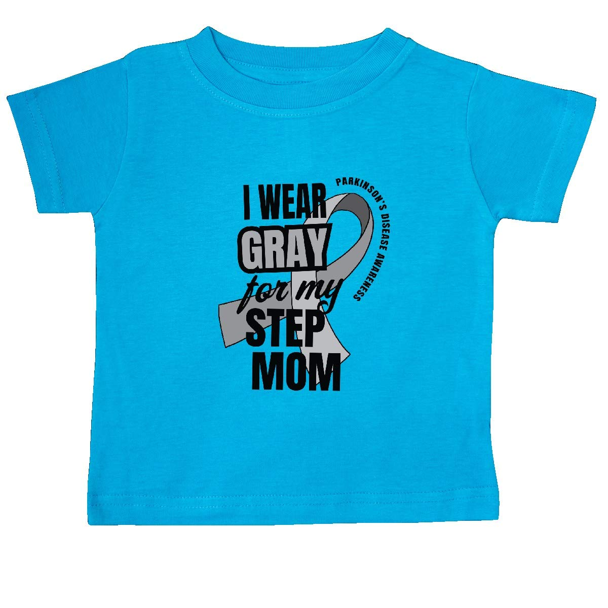 inktastic I Wear Gray for My Step Mom Parkinsons Disease Awareness Baby T-Shirt