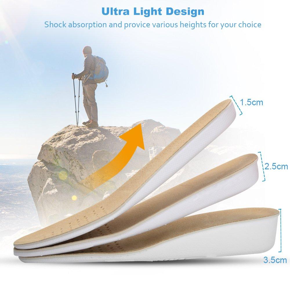 SOUMIT Plantilla de EVA Absorbente Transpirable Ultra Suave(35-40) - Con una función de masaje de la plantilla de aumento furtivo: Amazon.es: Hogar