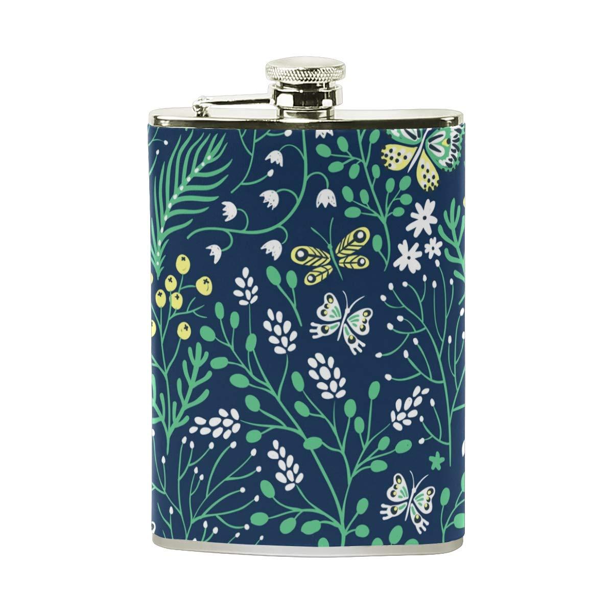 BALII Flasque en acier inoxydable pour herbes et papillons 237 ml