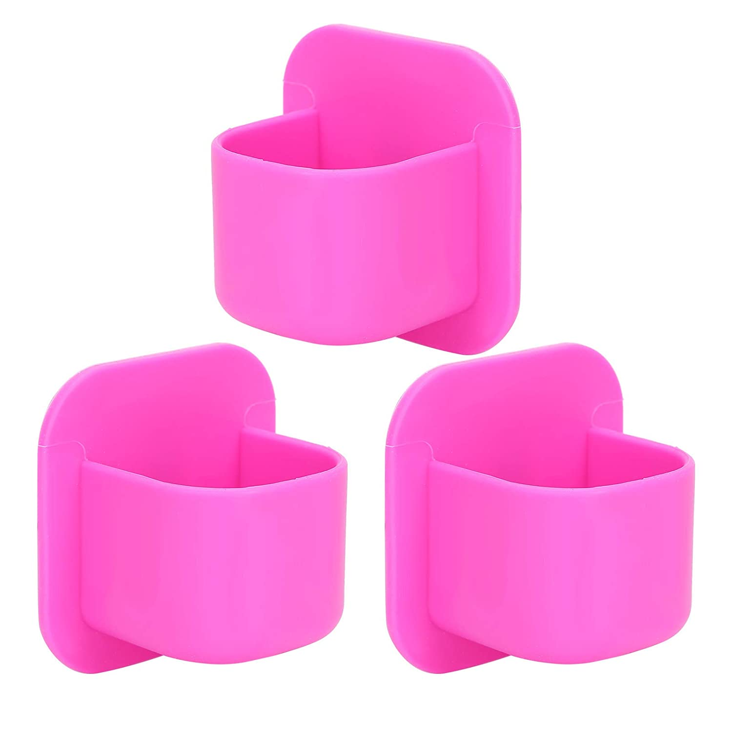 Powder Puff Holder, Easy To Clean Without Fading, Cosmetic Sponge Rack, A Total Of 3 Storage Racks Surable for Makeup Tools Home(rose Red)