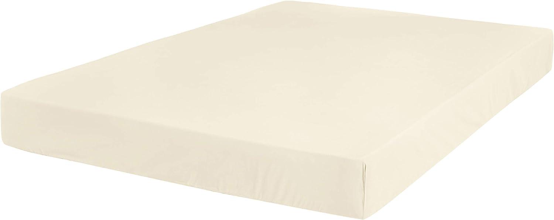 AmazonBasics Ultra-Soft Cotton Fitted Sheet - King, Ivory