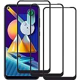 QWYJ for Samsung M11 y A11 Screen Protector (3 Unidades) Cristal Templado Galaxy M11 y A11 Protector de Pantalla Mica Negro