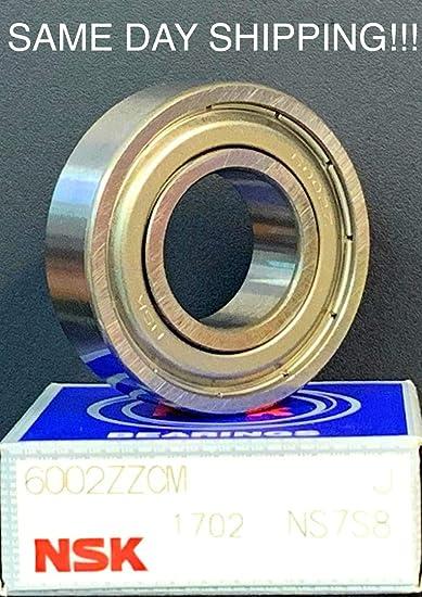 NSK 6002ZZ BEARING METAL SEALED 6002 ZZ CM  15x32x9 mm SAME DAY SHIPPING!!!