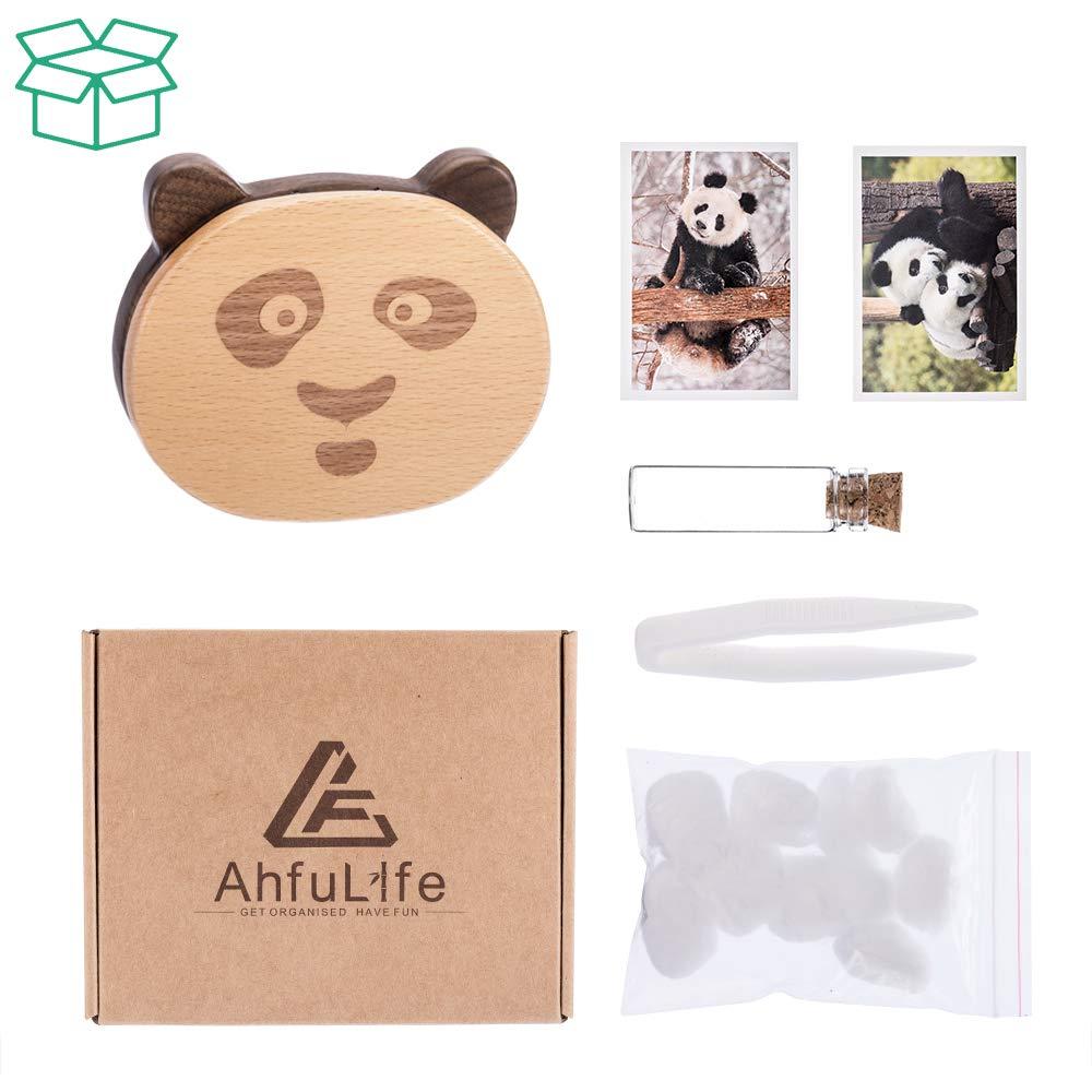 Baby Shower Gifts for Newborn Boy /& Girl Baby Tooth Keepsake Fairy Box Holder with Lanugo Bottle AhfuLife Wooden Panda Shape Keepsake Box for First Lost Teeth Cute Tooth Storage Holder Organizer