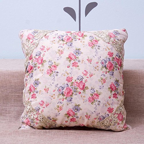 HOMEE Pillow Quilt4313Pillow Cushion Home Office Car Cushion Sofa Pillow Quilt ,40X40, Gray,Rice White,40X40