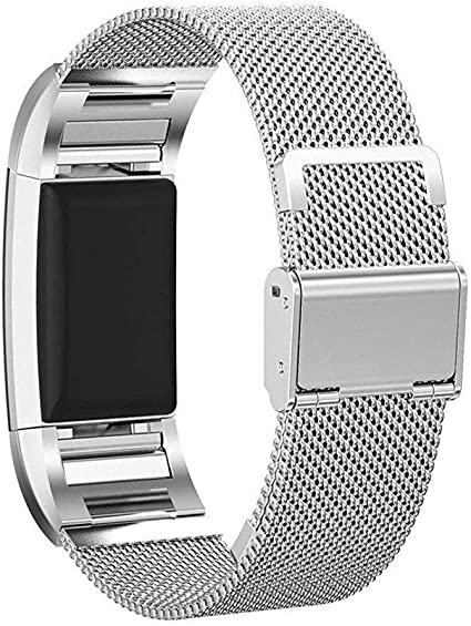 New Replacement Magnetic Loop Strap Milanese Wrist Mesh Band for Fitbit Charge 2