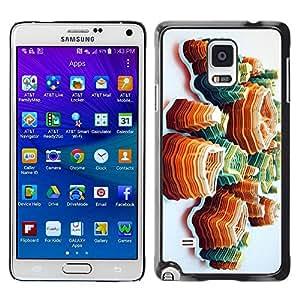 Paccase / SLIM PC / Aliminium Casa Carcasa Funda Case Cover - Art Island Orange Mountains - Samsung Galaxy Note 4 SM-N910F SM-N910K SM-N910C SM-N910W8 SM-N910U SM-N910