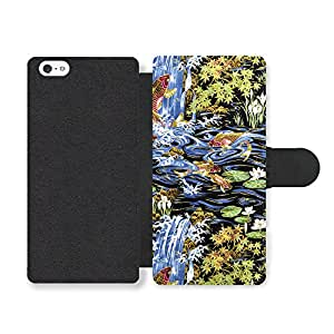 Koi Carp Fish And Water Lilies In Lake Cool Style Pattern Faux Leather case for iPhone 5 5S
